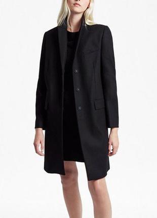 Крутой базовый плащ тренч черный french connection кардиган длинный пальто демисезон