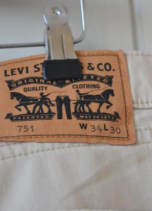 Levi strauss & co # levis летние бежевые лэвайсы w34 l305