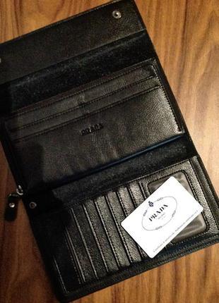 Кожаный кошелёк prada