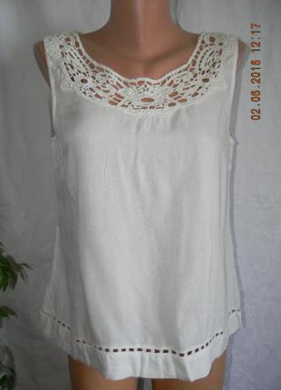 Новая кремовая блуза с кружевом vila clothes