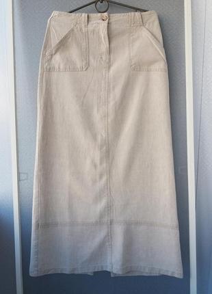 Льняная фирменная юбка