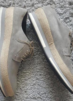 Оригинал!эксклюзивные,фирменные,итальянские,замшевые туфли-броги-дерби alberto guardiani