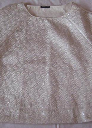 Нарядная блуза топ sisley
