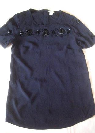 Блуза moonsoon с ручной вышивкой бусинами, состояние новой