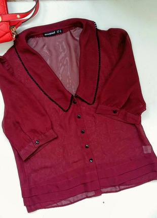 Блуза бордо марсала