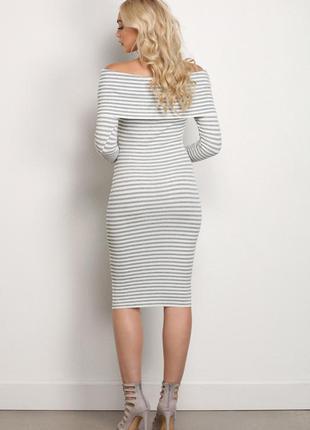 Полосатое платье- миди