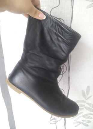 Кожаные демисезонные ботинка