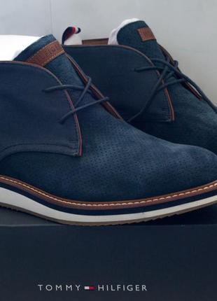 Оригинальные замшевые мужские туфли tommy hilfiger