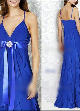 Нарядное платье ever-pretty с брошью и оборками