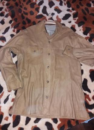 52ec3e79442 Мужские кожаные рубашки 2019 - купить недорого мужские вещи в ...