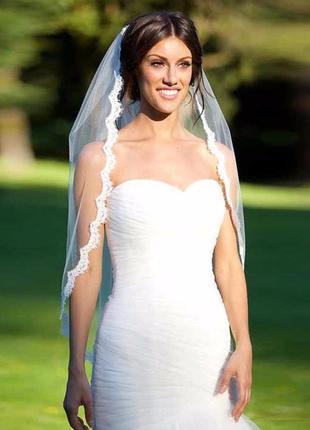 Фата свадебная кружевная