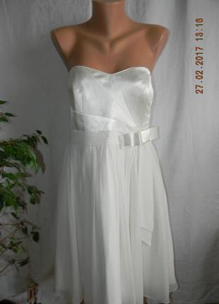 Нарядное белое платье debut