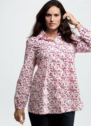 Легкая рубашка туника рукав 3/4 большого размера xl tchibo tcm блуза хлопок