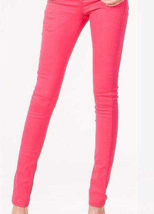 Летние джинсы слим фит наш 46 kiabi франция узкие зауженные m стретч
