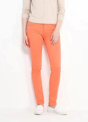 Летние джинсы слим фит s р.36 kiabi франция зауженные стретч