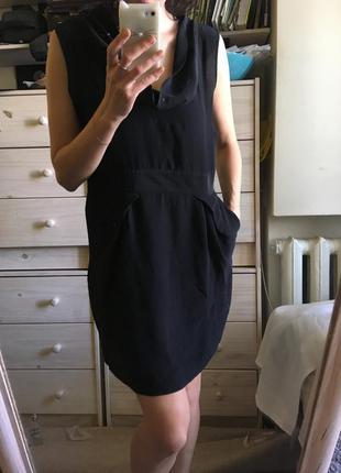 Красивое удобное шелковое платье с карманами 100% шелк