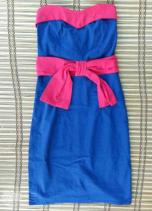 Платье бюстье миди