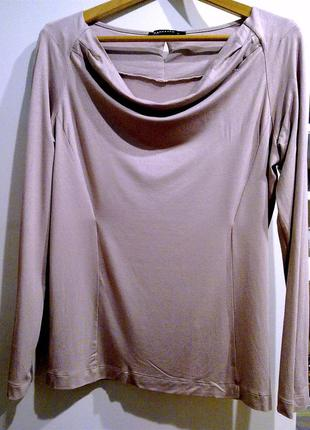 Трикотажная блуза цвета пудры exspresso