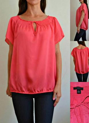 Легкая яркая блуза , дорогой бренд ann taylor