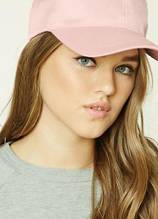 Новая сатиновая бейсболка, кепка, розового цвета, forever 21