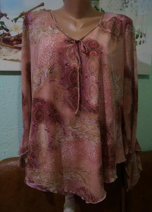 Блуза р.24,большой размер,бренд etam