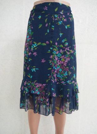 Легкая летняя юбка на подкладе