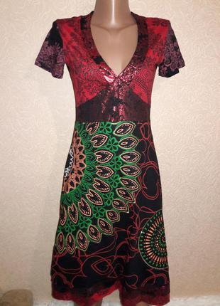 Новое шикарное платье от desigual !!! made in india !!!