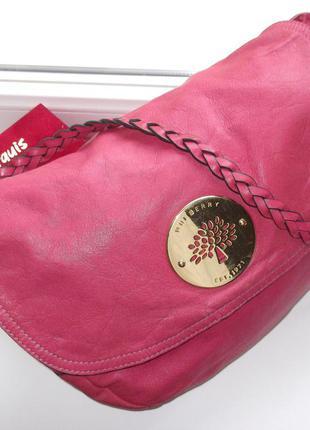 Большая брендовая кожаная сумка mulberry