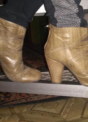 Кожаные ботинки ботильоны made in spain