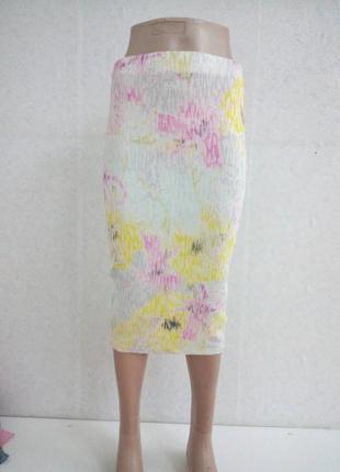 Летняя юбка с цветочным принтом