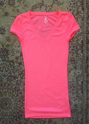 Неоново - розового цвета футболка tally weijl