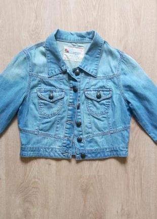Джинсовый короткий пиджак new look!