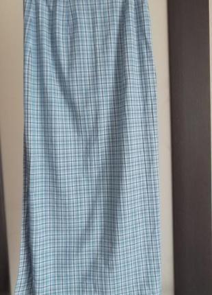 Очень крутая натуральная длинная юбка на запах!