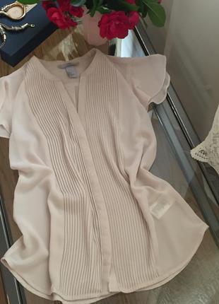 Базовая блуза h&m, размер 38, идеттна м, небольшую л