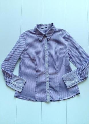 Рубашка в полоску приталенного кроя