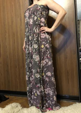Платье длинное сарафан шёлк monsoon
