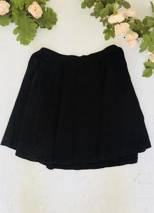 Трендовая чёрная юбка new look