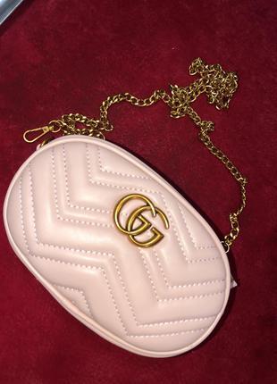 Поясная сумка клатч в стиле gucci
