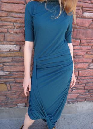Платье selected femme асимметричной формы в модном оттенке зеленого