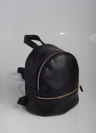 Маленький прогулочный рюкзак черный женский для девушек