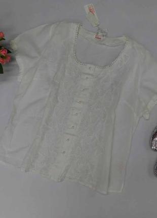 Натуральная легкая, батистовая блузка indiano большие размеры 3xl и 4xl