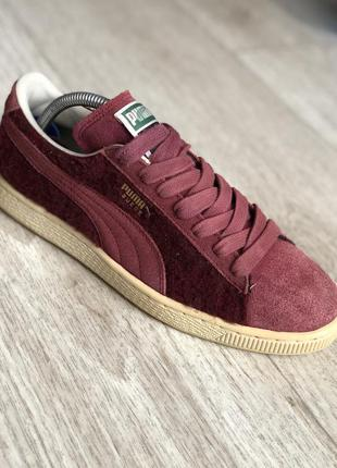 Оригинальные марсаловые кроссовки puma