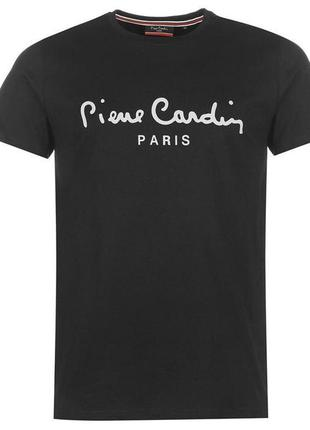 Мужская черная футболка pierre cardin оригинал