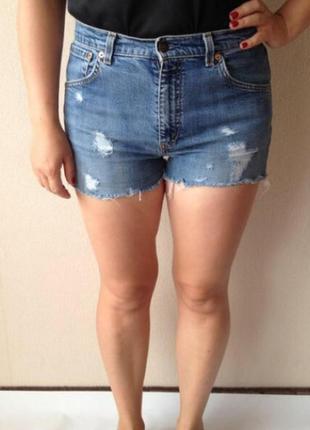 Джинсовые шорты levis короткие шорты