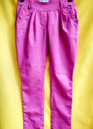 Розовые летние брючки-бананки la grande