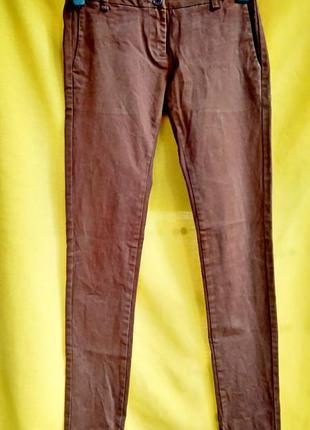 Коричневые джинсы скинни m.sara