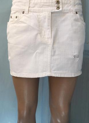Джинсовая,короткая юбка от river island