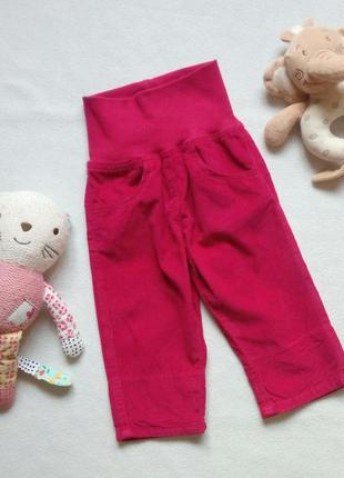 Вельветовые штанишки с подворотами lupilu