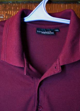 Трикотажная рубашка поло с длинными  рукавами