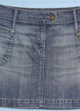 Модная джинсовая юбка н&m 46-48